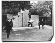 The unveiling of the memorial on Horse Guards.